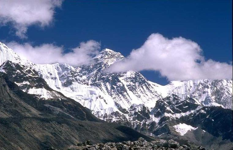Mount 'Everest', WEST-FACE, 29,037 ft; Highest Peak in the Himalayas, 'Hindu Kingdom of NEPAL'